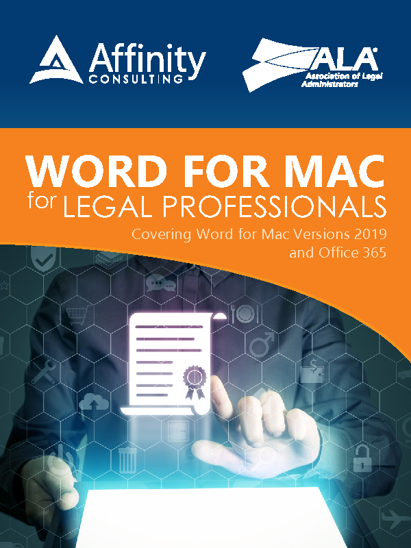 Word 2019/O365 (Mac) for Legal Professionals (Site License)