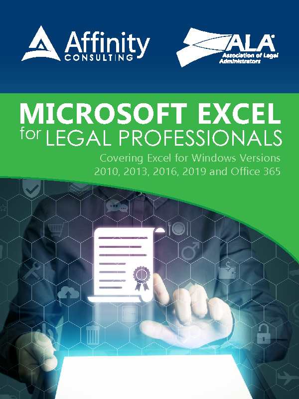 Microsoft Excel for Legal Professionals (Indv. License)