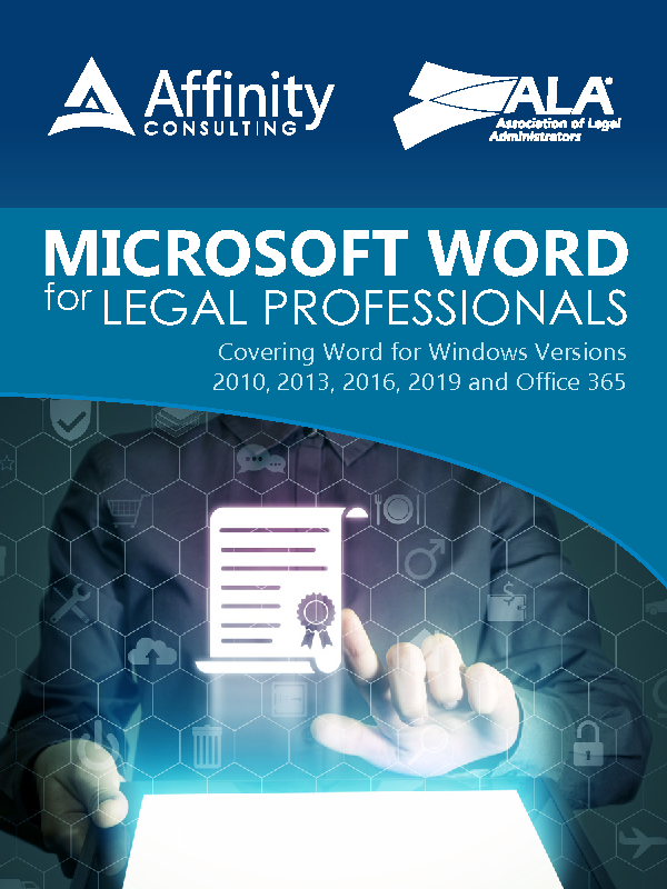 Microsoft Word for Legal Professionals (Indv. License)